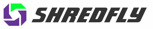 Shredfly paper shredding logo